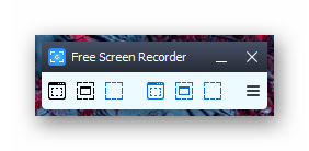 Окно программы Free Screen Video Recorder
