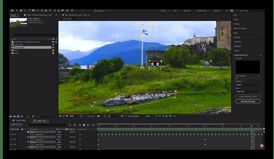 Работа в программном обеспечении Adobe After Effects