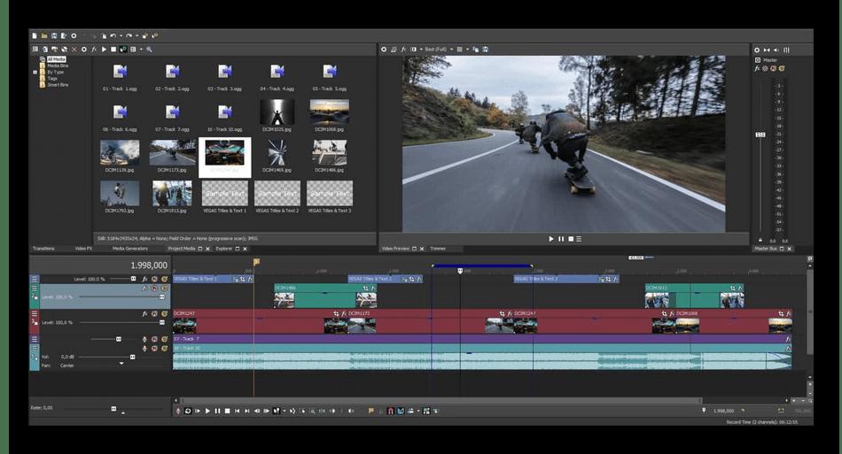 Редактирование видео в программном обеспечении Sony Vegas Pro