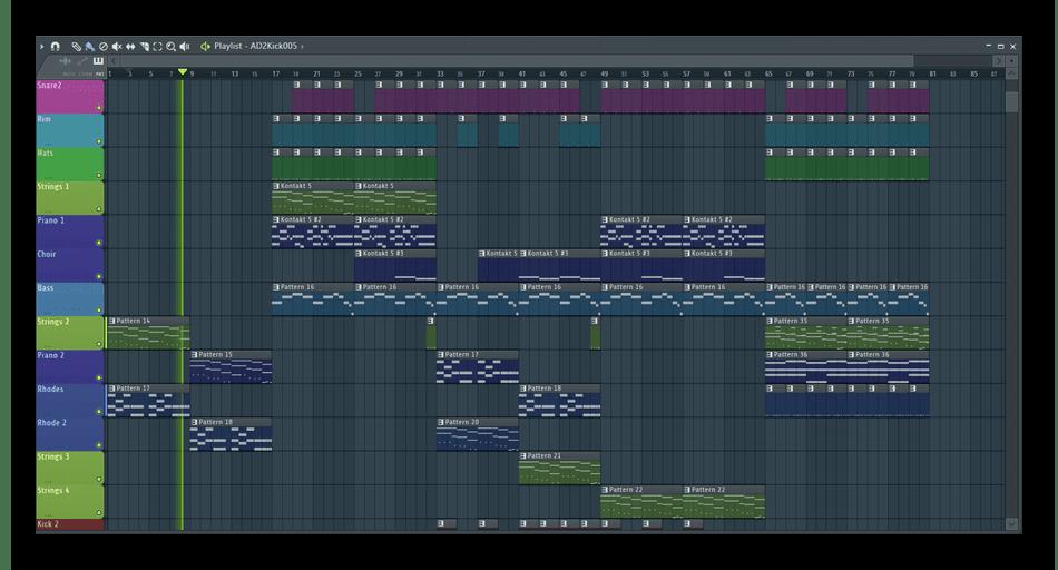 Внешний вид программного обеспечения FL Studio