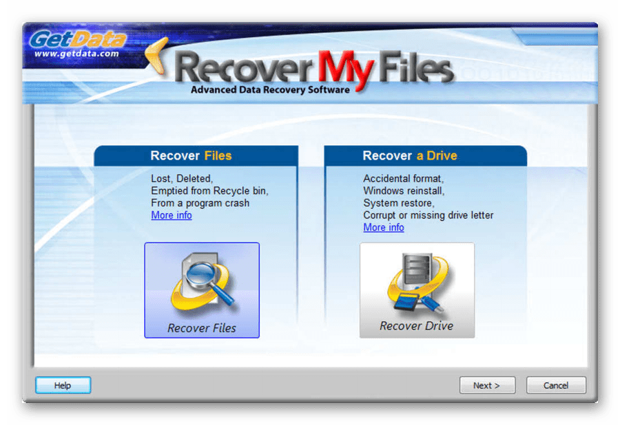 Пример работоспособности софта Recover My Files