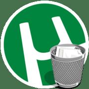 Удаление программы utorrent