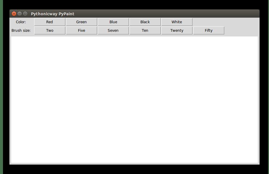 Внешний вид графического приложения на Python