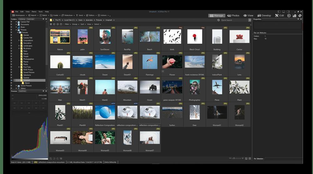 Использование программы ACDSee для просмотра фотографий на компьютере