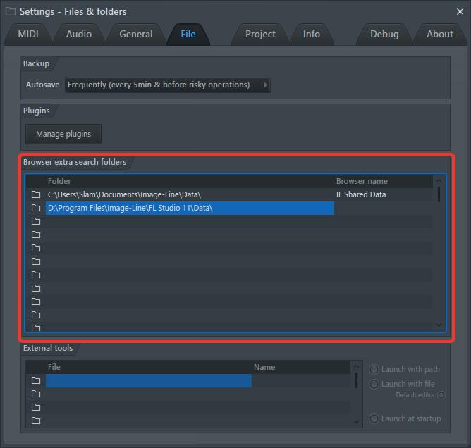 Добавление папки с сэмплами в FL Studio