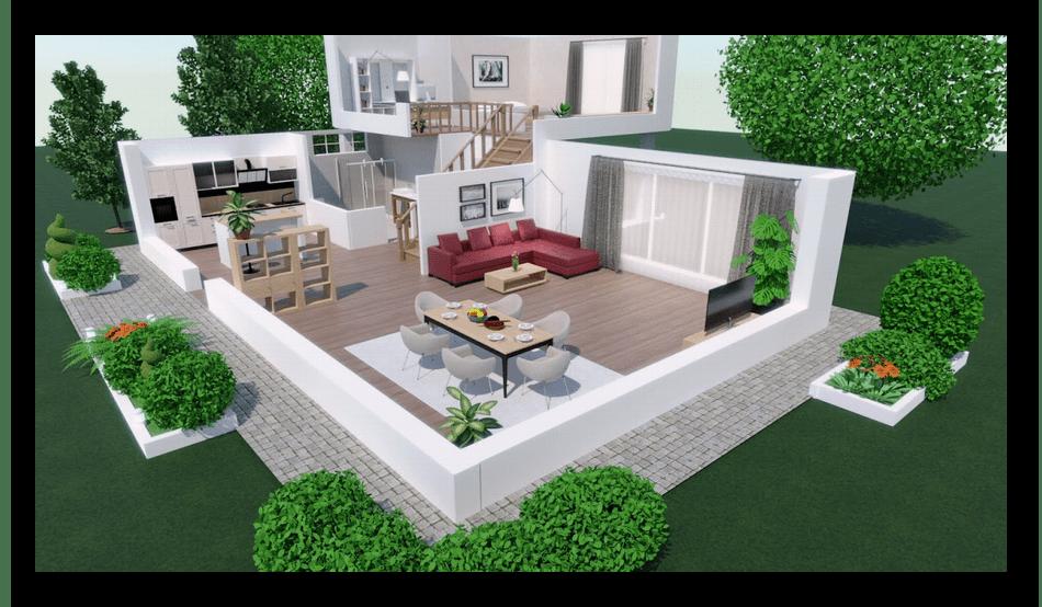 Пример готового проекта в программе для дизайна интерьеров Planner 5D