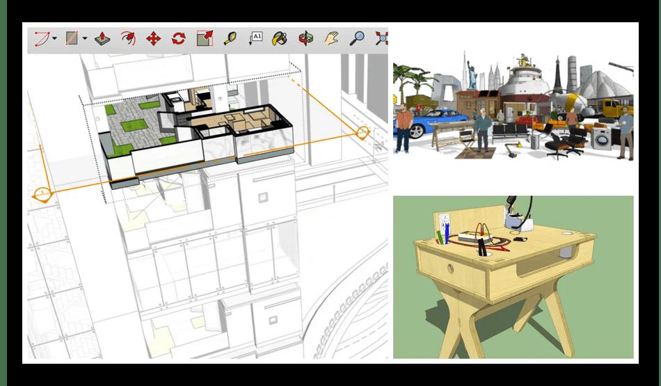 Проектирование элементов интерьера в программе SketchUp