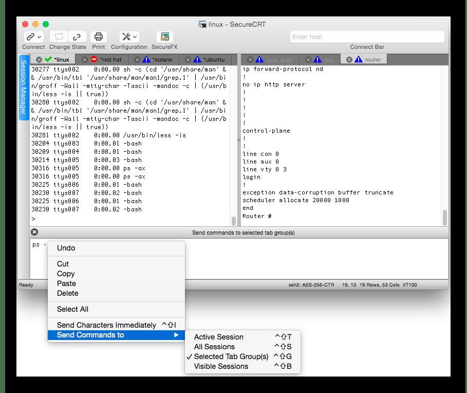 Программное обеспечение для удаленного соединения SecureCRT