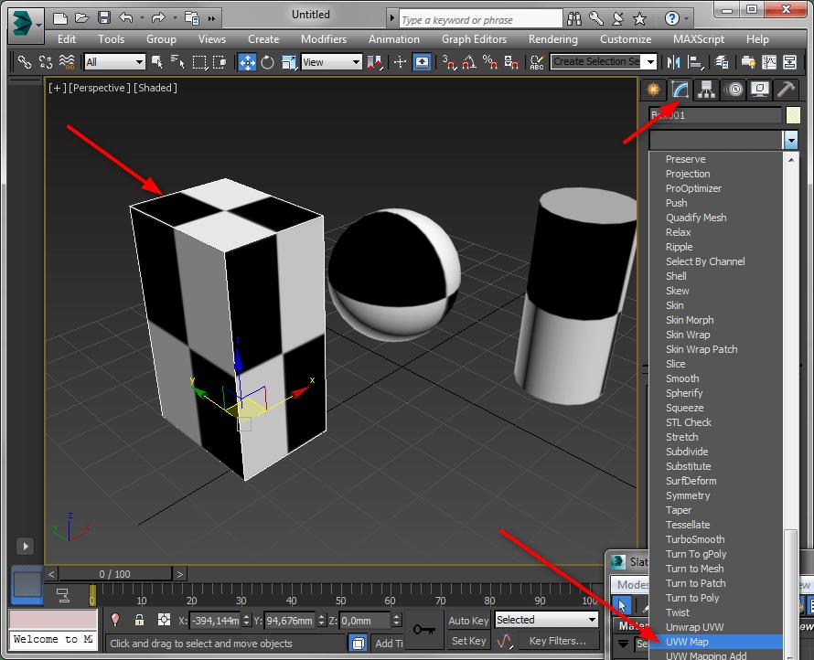 Простое текстурирование в 3ds Max 4