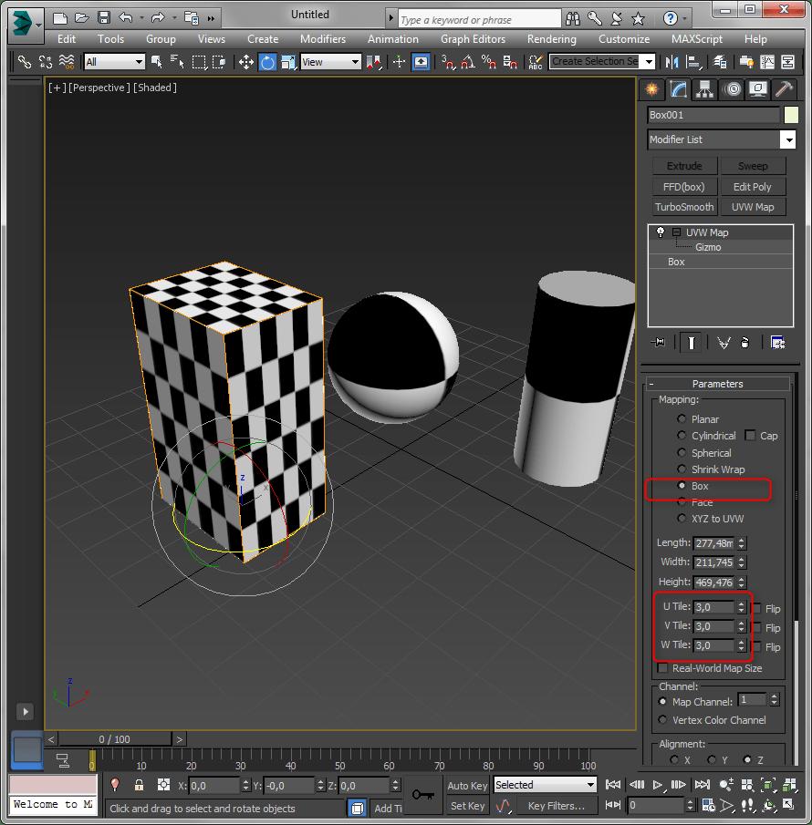 Простое текстурирование в 3ds Max 5