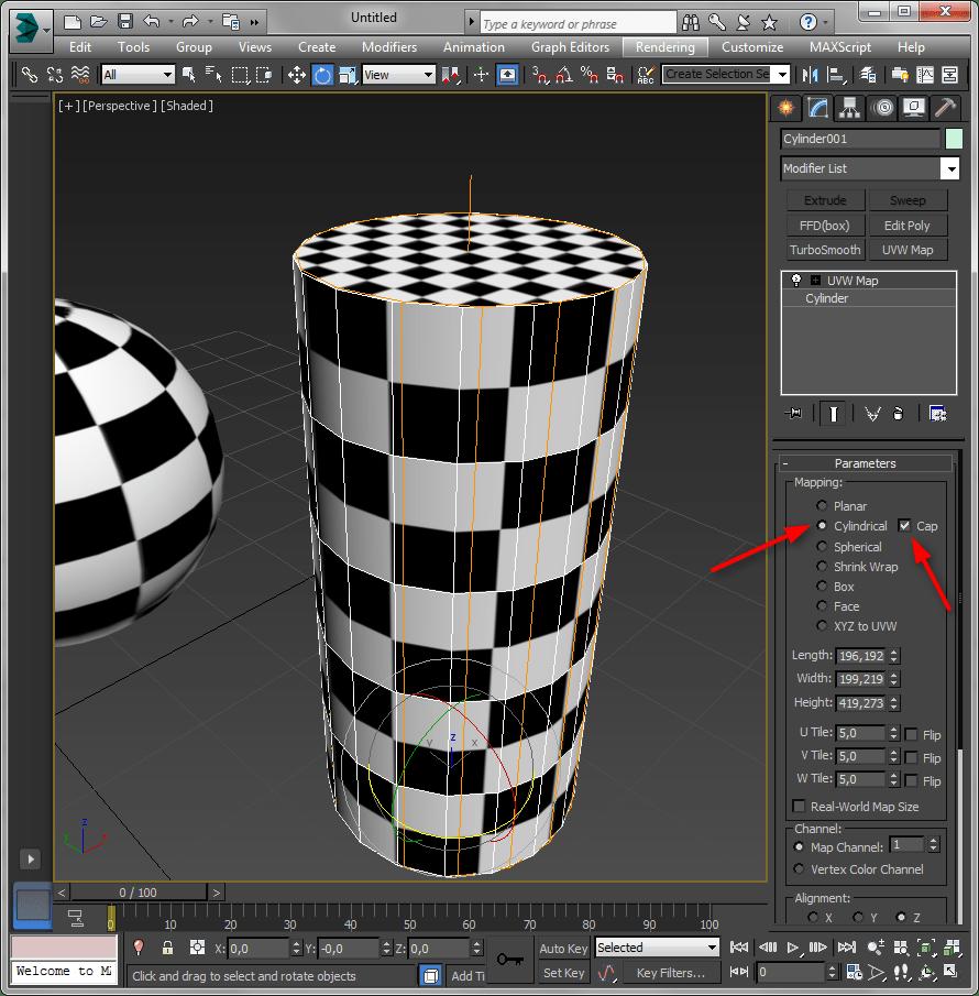 Простое текстурирование в 3ds Max 8