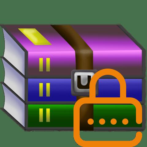 Пароль на архив в приложении WinRAR