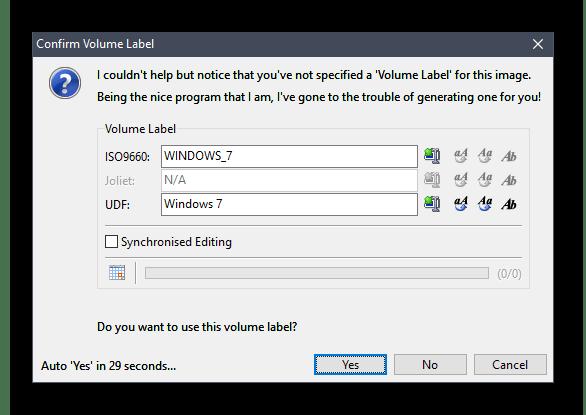 Процесс сохранения образа системы Windows 7 в ImgBurn
