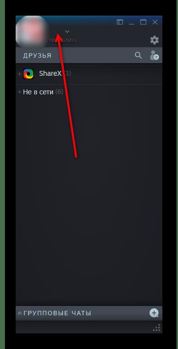 Результат смены никнейма на невидимый в Steam