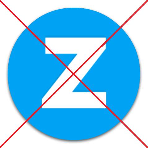 Удаление программы Zona