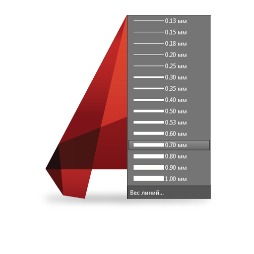 autocad-logo line weight