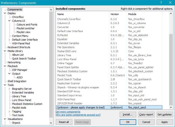 foo_input_sacd.fb2k-component в Foobar2000