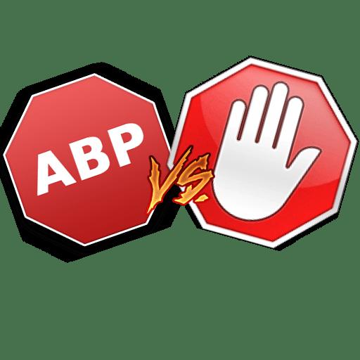 Иконка AdBlock vs AdBlock Plus
