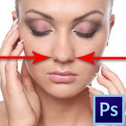 Как уменьшить нос в Фотошопе