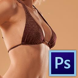 как увеличить грудь в фотошопе