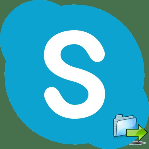 Передача файла в Skype
