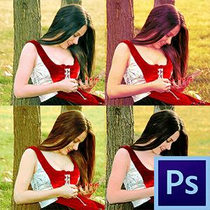 тонирование фотографии в фотошоп