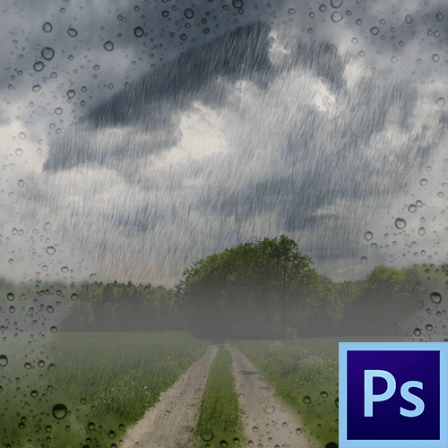 Как сделать дождь в Фотошопе