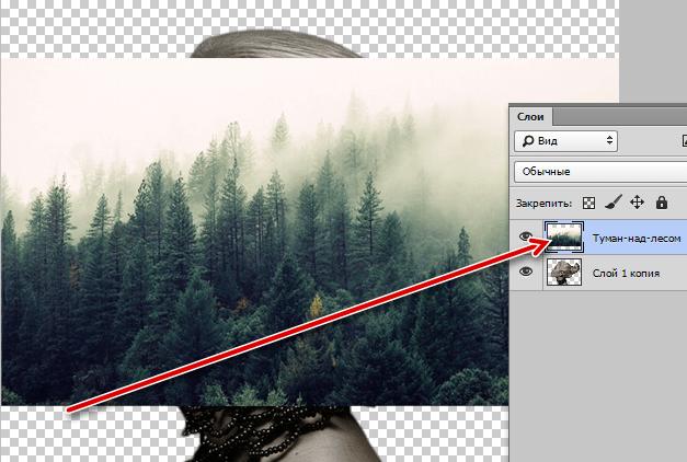 Помещаем пейзаж на редактируемый документ