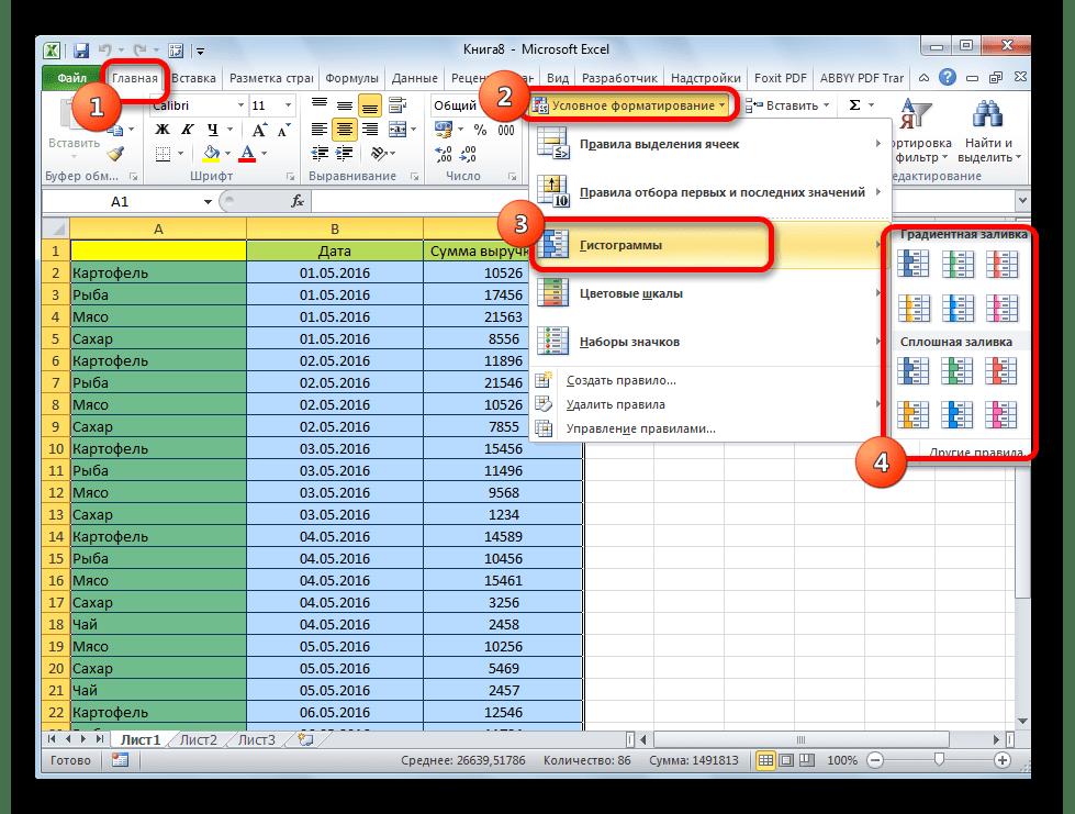 Создание условного форматирования в Microsoft Excel