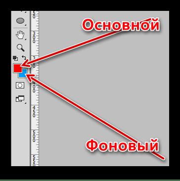 Основной и фоновый цвет в Фотошопе