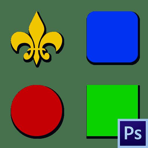 Как нарисовать фигуры в Фотошопе