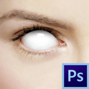 Как сделать белые глаза в фотошопе