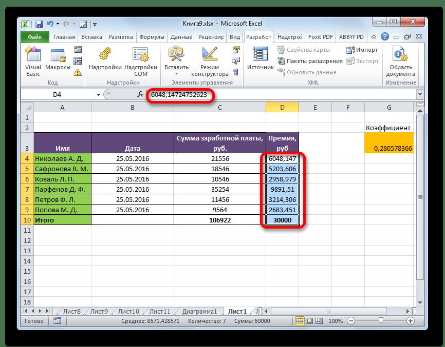 Максрос выполнил задачу в Microsoft Excel
