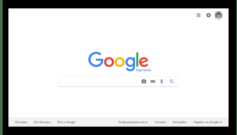 Открытие гугл картинок в браузере