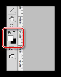 Смена основного цвета на белый в Фотошопе