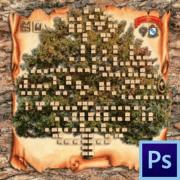 Как сделать генеалогическое дерево в фотошопе