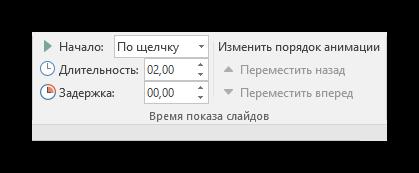 Длительность эффектов в PowerPoint