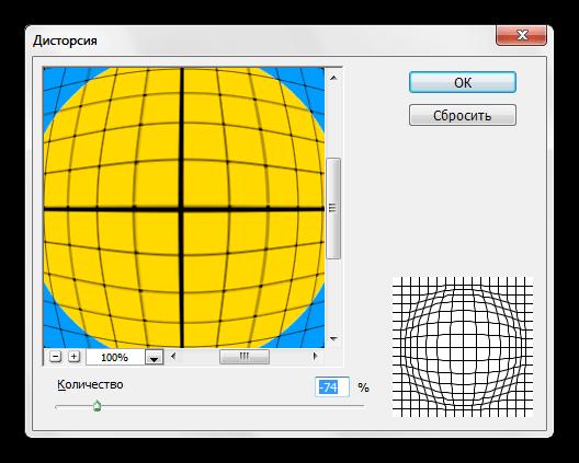 Фильтр Дисторсия для деформирования изображения в Фотошопе