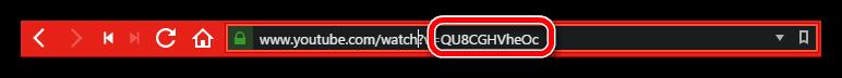 ID ролика на ютубе