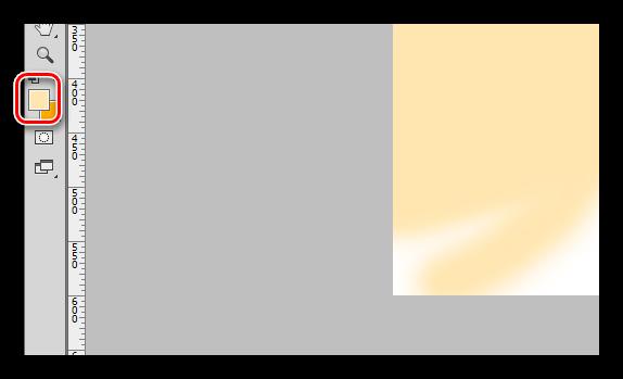 Основной цвет инструмента Кисть для закрашивания фона в Фотошопе