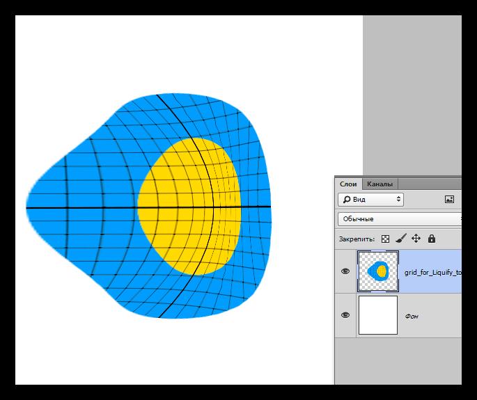 Результат искажения изображения при помощи функции Деформация в Фотошопе