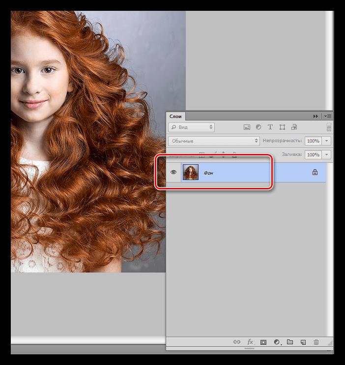 Результат заполнения фона изображением при помощи функции Поместить при закрашивании фона в Фотошопе