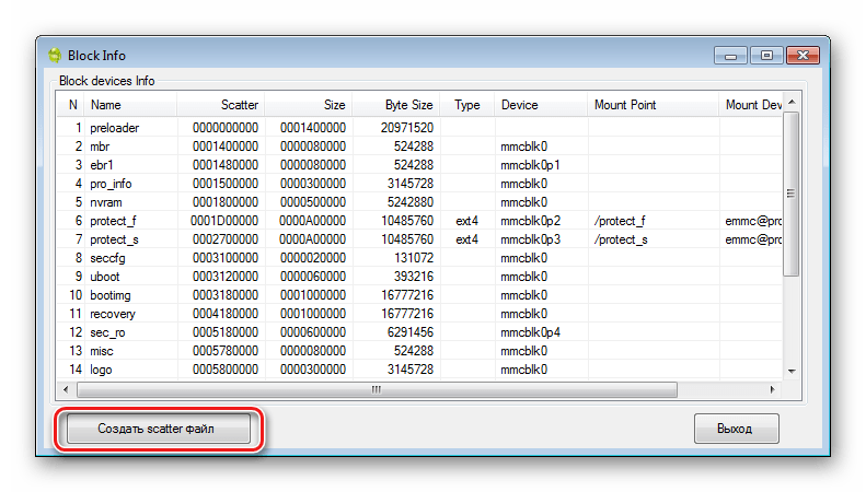 backup SP FT MTK Droid Tools создать скаттер