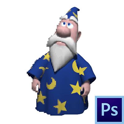 Как убрать пиксели в фотошопе