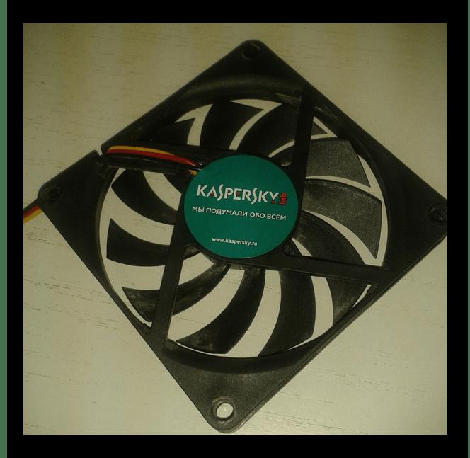 Вентилятор с наклейкой