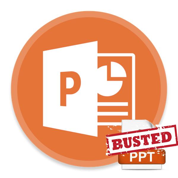 PowerPoint не может открыть файл PPT