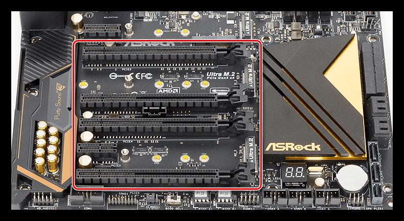 Дополнительные слоты PCI-E на материнской плате для проверки видеокарты