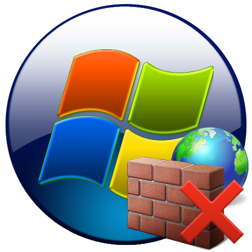 Отключенный брандмауэр в Windows 7