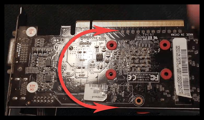Разделение печатной платы и системы охлаждения видеокарты при замене термопасты
