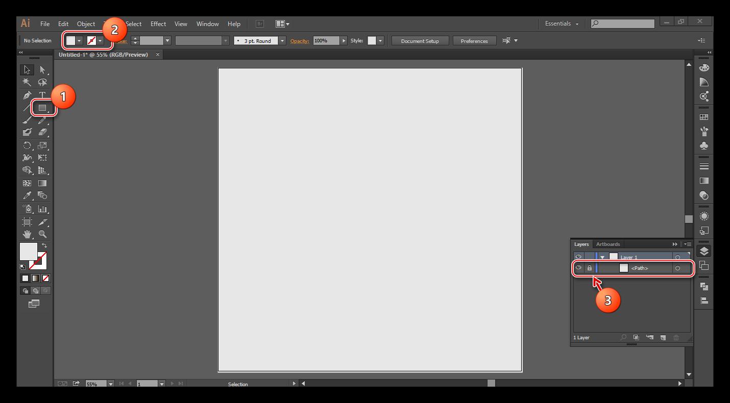 Установка фона в Illustrator
